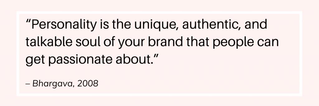 Website branding personality quote