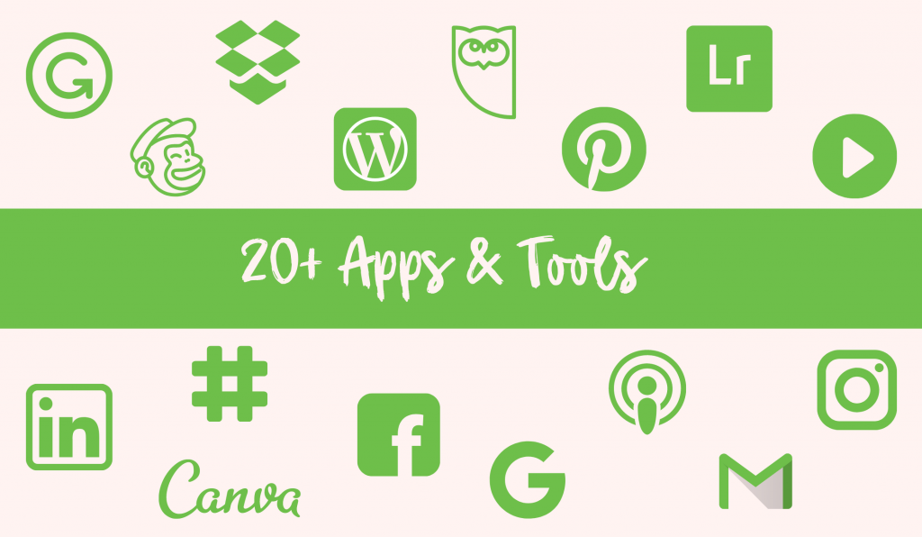 Logos of marketing apps and tools